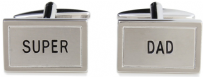 Dalaco 90-1569 Super Dad Rhodium Plated Cufflinks